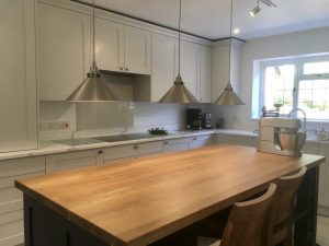 Oak top kitchen island